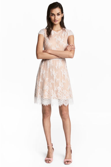 Lace dress - Powder/White -  | H&M 1