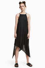 Ribbed jersey dress - Black - Ladies | H&M 1