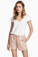 V-neck top - White - Ladies | H&M 1