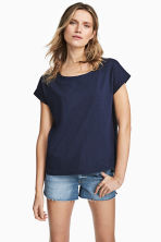Wide top - Dark blue - Ladies | H&M 1