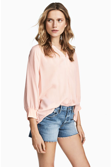 V領女衫 - Powder pink -  | H&M 1