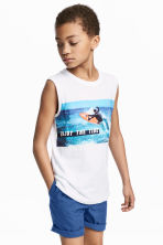 Printed vest top - White - Kids | H&M CN 1
