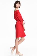 Off-the-shoulder dress - Red - Ladies | H&M CN 1