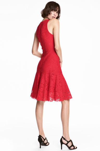 Lace dress - Red -  | H&M CN 1