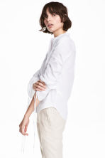 Cotton shirt with drawstrings - White - Ladies | H&M 1