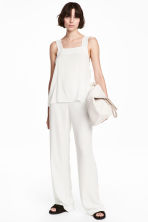 Wide suit trousers - White - Ladies | H&M CN 1