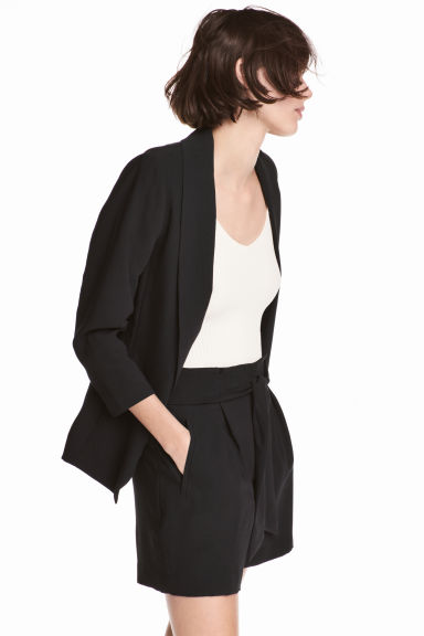 Shawl-collar jacket - Black - Ladies | H&M 1