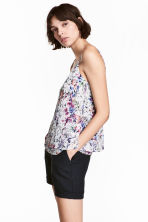 Double-layer strappy top - Powder pink/Floral - Ladies | H&M CN 1