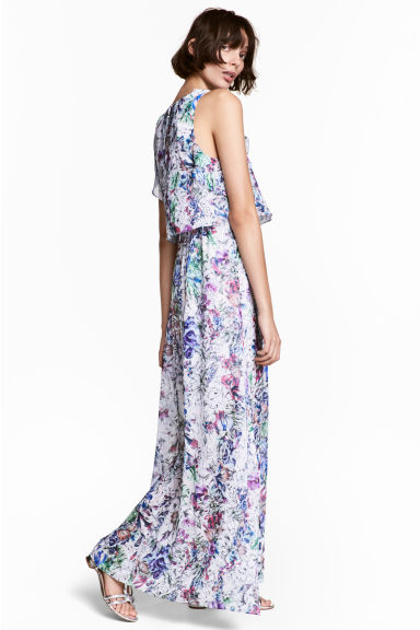 Crêpe dress - Powder pink/Floral -  | H&M CN 1