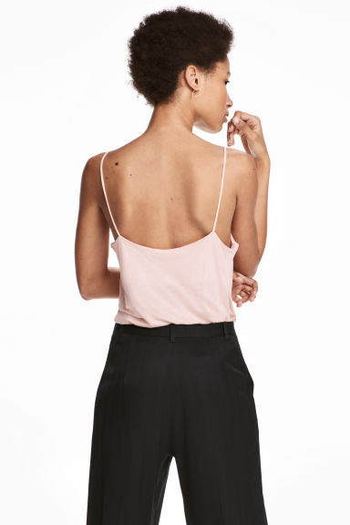 Jersey strappy top - Powder pink - Ladies | H&M