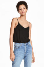 Jersey strappy top - Black - Ladies | H&M 1