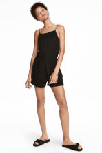 Jersey playsuit - Black - Ladies | H&M 1