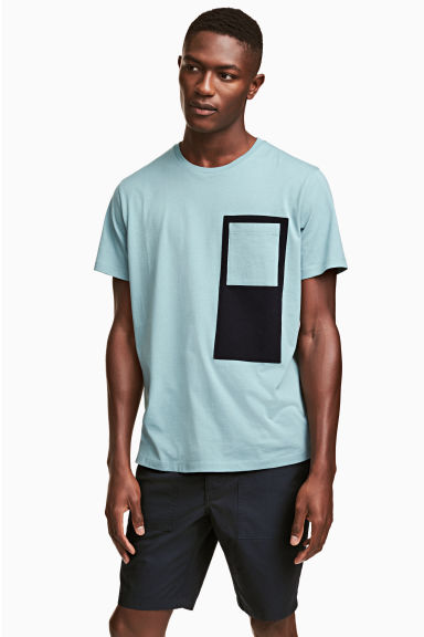 Cotton jersey T-shirt - Light petrol - Men | H&M CN 1