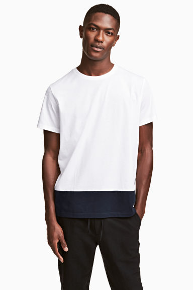Cotton jersey T-shirt - White -  | H&M