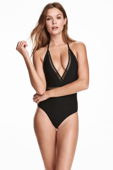 Halterneck swimsuit - Black - Ladies | H&M 1