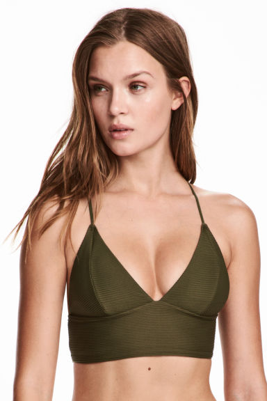 Bikini top - Khaki green - Ladies | H&M 1