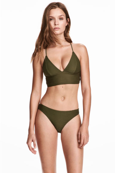 Bikini bottoms - Khaki green - Ladies | H&M CN 1