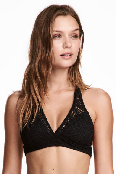 Lace bikini top - Black - Ladies | H&M 1