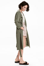 Trenchcoat - Khaki green - Ladies | H&M 1