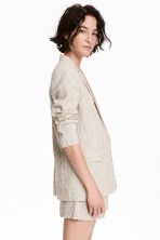 Pinstriped jacket - Natural white/Striped -  | H&M CN 1