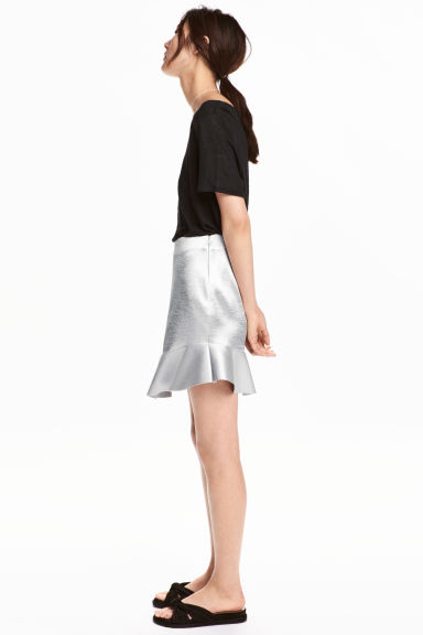 Satin skirt - Silver - Ladies | H&M 1