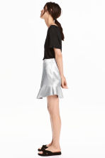 Satin skirt - Silver - Ladies | H&M CN 1