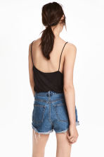 V-neck strappy top - Black - Ladies | H&M CN 1