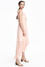 Frilled crêpe dress - Powder pink/Pattern - Ladies | H&M CA 1