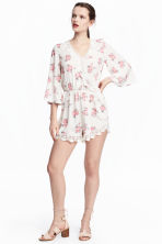 Playsuit - Natural white/Floral - Ladies | H&M 1