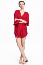 Playsuit - Red - Ladies | H&M 1