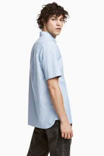 標準剪裁短袖襯衫 - Light blue/Striped - Men | H&M 1