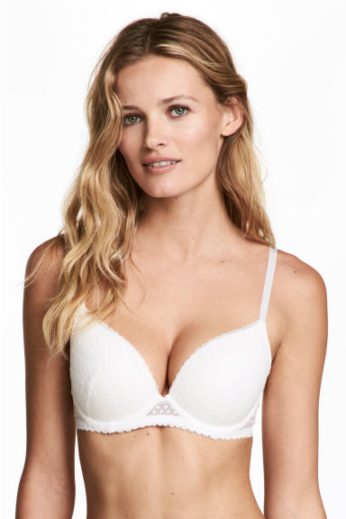 Reggiseno push-up in pizzo - Bianco - DONNA | H&M IT 1