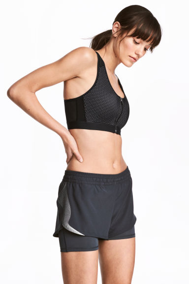 Running shorts - Dark grey - Ladies | H&M 1