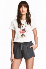 Printed T-shirt - White/Minnie Mouse - Ladies | H&M 1
