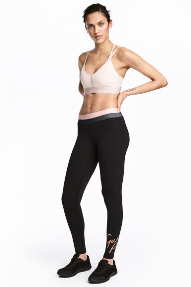 Sports tights - Black - Ladies | H&M 1