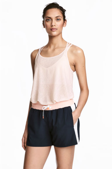 Sports shorts - Dark blue/Powder - Ladies | H&M CA 1