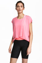 Sports top - Neon pink marl -  | H&M 1