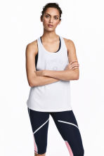 Sports vest top - White -  | H&M 1