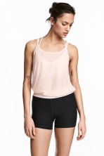 Short sports tights - Dark grey marl - Ladies | H&M 1