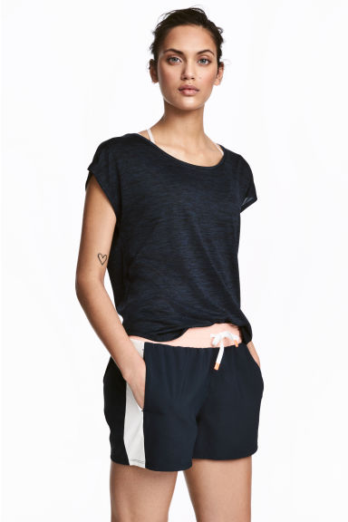 Sports top - Dark blue marl -  | H&M 1