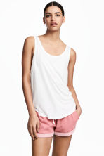 Wide vest top - White - Ladies | H&M 1