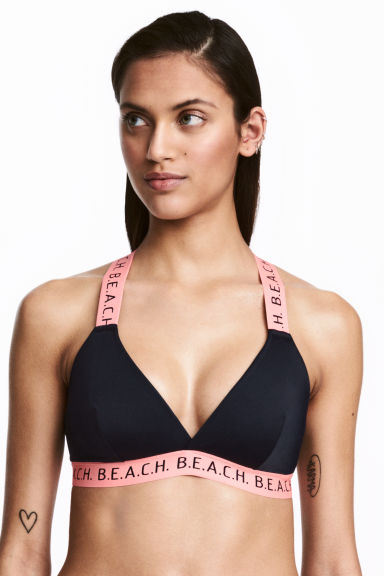 Bikini top - Dark blue/Pink - Ladies | H&M CN 1