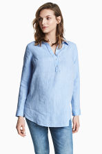 MAMA Linen blouse - Light blue - Ladies | H&M 1