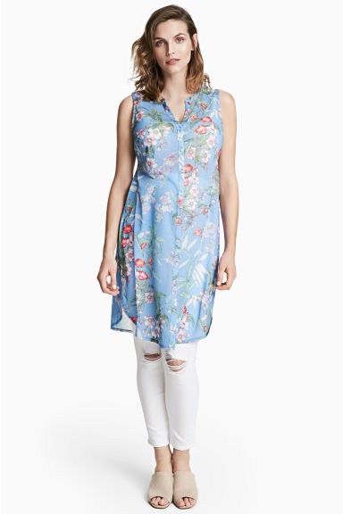 MAMA Sleeveless tunic - Light blue/Floral - Ladies | H&M CN