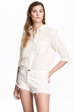 Shorts consumati in jeans - Denim bianco - DONNA | H&M IT 1