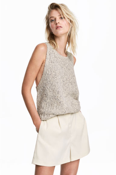 Shorts a vita alta - Beige chiaro -  | H&M IT