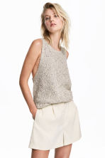 High-waisted shorts - Light beige -  | H&M 1