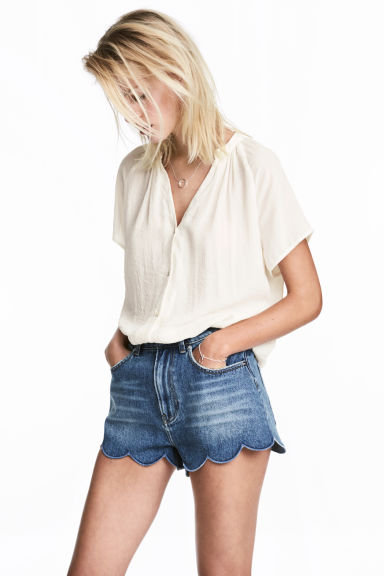 V-neck blouse - White -  | H&M 1