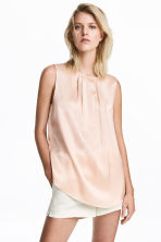 Sleeveless blouse - Powder pink - Ladies | H&M 1