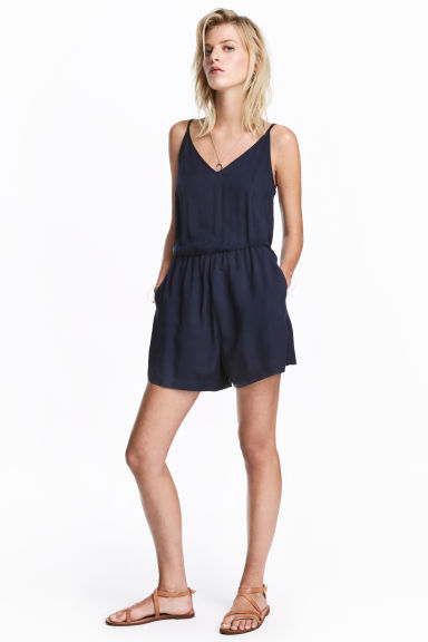 Playsuit - 深蓝色 - Ladies | H&M CN 1